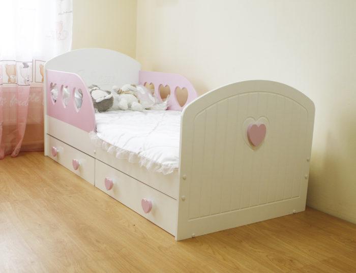 Кровать для девочки сердце Лилель